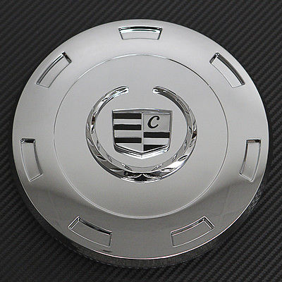 "Car Accessories 1 Piece Cadillac Escalade 22"" Chrome Lux Logo Center Caps Wheels Pop In Cover"
