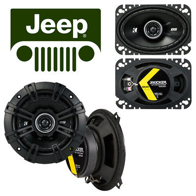 For Car Fit Jeep Comanche Pickup 1985-1985 Speaker Replacement Kicker DSC5 DSC46 Package