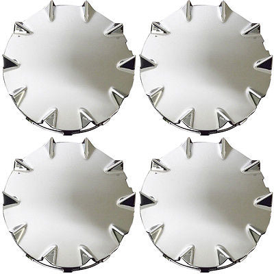 Car Accessories 4 Pc Set Chevy SSR Rear Silver Center Caps Steel Wheels Rims Pop In Hub Cover