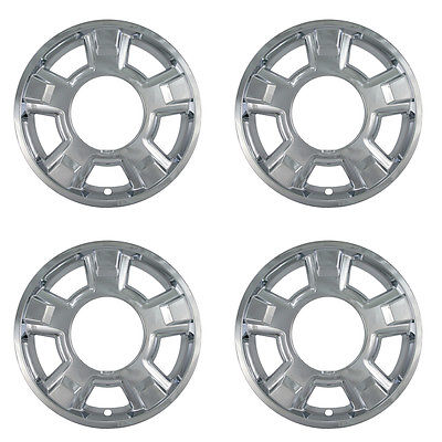 "Car Accessories 4 Pc Ford F150 17"" Chrome Skins Hub Caps Rim Covers fits 5 Spoke Aluminum Wheel"