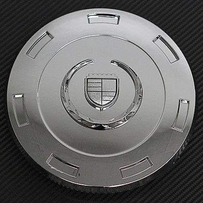 "Car Accessories 1 Piece Cadillac Escalade 22"" Chrome Logo Center Caps Wheels Rims Pop In Cover"
