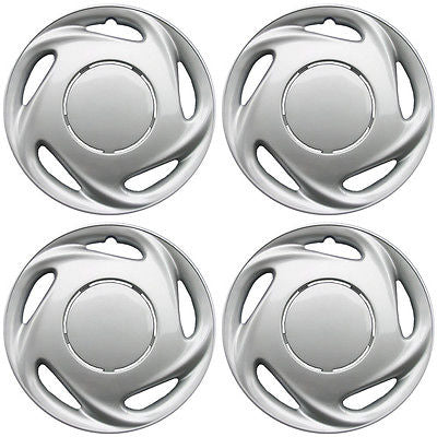 "Car Accessories 4 Piece Set A/M Silver ABS Fits 1998 1999 2000 TOYOTA COROLLA 14"" Wheel Hub Caps"