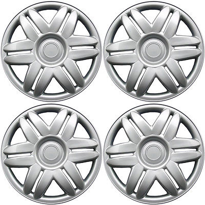 "Car Accessories 4 Piece Set A/M Silver ABS Fits 2000 2001 TOYOTA CAMRY 15"" Wheel Cover Hub Caps"