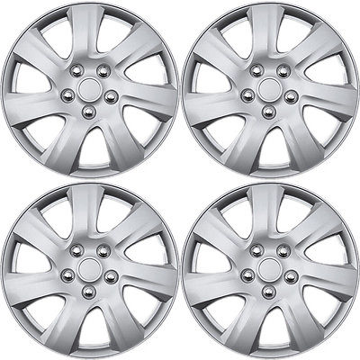 "Car Accessories 4 Piece Set A/M Silver ABS Fits 2010 2011 TOYOTA CAMRY 15"" Wheel Cover Hub Caps"