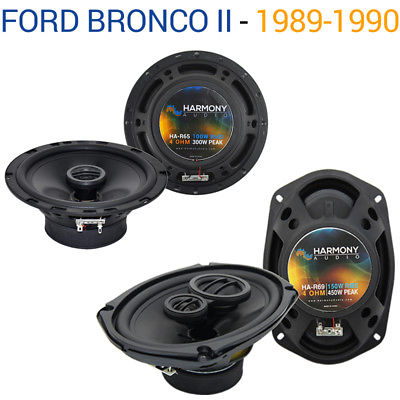 For Car Ford Bronco II 1989-1990 Factory Speaker Upgrade Harmony R65 R68 Package