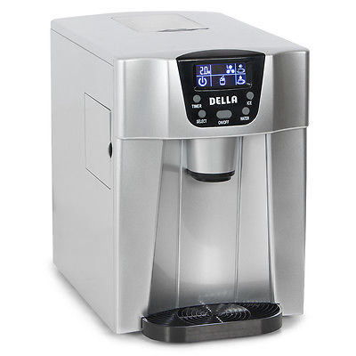 2-in-1 Water Dispenser with Built-In Ice Maker Freestanding Machine, 2-Size Cube