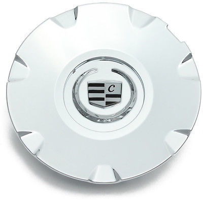 "Car Accessories 1 Piece Caddy CTS STS 17"" Chrome Lux Logo Center Caps Wheels Pop In Cover"