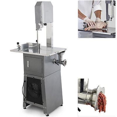 550W Stand Up Meat Band Saw & Meat Grinder Dual Electric Food Produce Processor