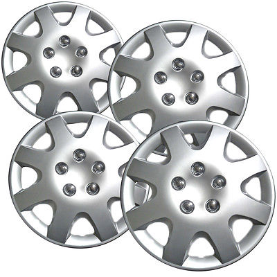 "Car Accessories 4 Piece Set of A/M Silver ABS Fits 1998 1999 2000 HONDA CIVIC 14"" Wheel Hub Caps"