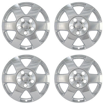 "Car Accessories 4 PC Set Jeep Grand 17"" Chrome Wheel Skins Rim Covers Hub Caps Wheels"