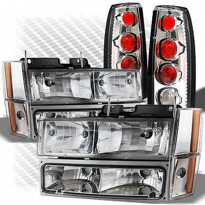 For 88-93 GMC/Chevy C/K Truck Headlights + Altezza Style Tail Lights Combo