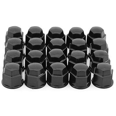 Car Accessories 17mm Black Lug Nut Covers 20pc Set for Auto Car Wheel Rim Tire Bolt Center Caps