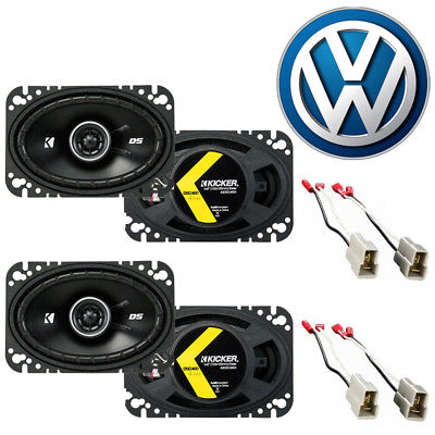 For Car Fit Volkswagen Dasher 1976-1981 Factory Speaker Upgrade Kicker (2) DSC46 Package
