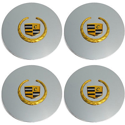 Car Accessories 4 Pc Set Cad Gold Lux Center Caps Steel Wheels Alloy Rims Pop In Hub Cover