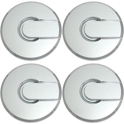 Car Accessories 4 Pc Set Chrome Center Caps For Steel Wheels or Alloy Rims Pop In Skin Hub Cover