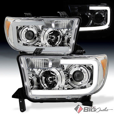 For 07-13 Tundra, 08-16 Sequoia Light-Tube-DRL Projector Headlights