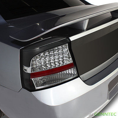 For 06-08 Charger Black LED Perform Tail Lights Rear Brake Lamps Upgrade