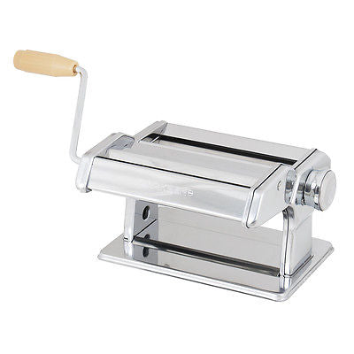 "7"" Fresh Noodle Pasta Maker Stainless Spaghetti Dough Rolling Cutting Machine"