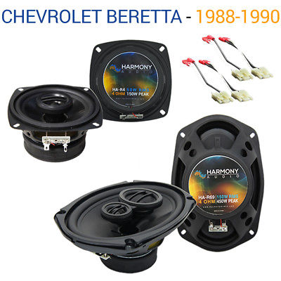 For Car Chevy Beretta 1988-1990 Factory Speaker Upgrade Harmony R4 R69 Package