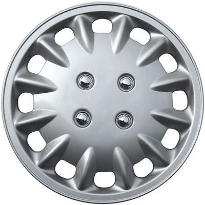 "Car Accessories 1 Piece of 14"" Inch Silver Hub Caps Full Lug Skin Rim Cover for OEM Steel Wheels"