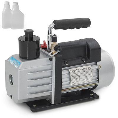 1/2HP Rotary Vane 5CFM Vacuum Pump R410a R134a Refrigerant HVAC Single-Stage