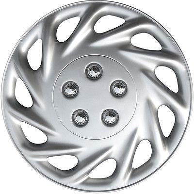 "Car Accessories 1 Piece of 15"" Inch Silver Hub Caps Full Lug Skin Rim Cover for OEM Steel Wheels"