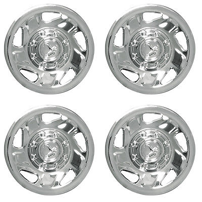 "Car Accessories 4 PC Set Ford Truck Van 16"" 8 Lug Wheel Covers Rim Hub Caps for Steel Wheels"