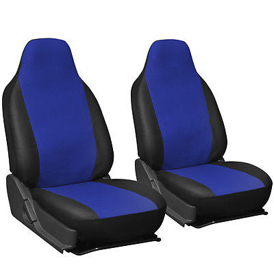 Car Accessories Faux Leather Blue Black Seat Cover for Jeep Wrangler w/Integrated Head Rests
