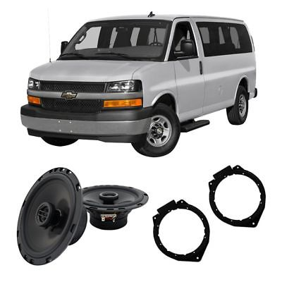 For Car Fits Chevy Express 2008-2017 Front Door Replacement Harmony HA-R65 Speakers