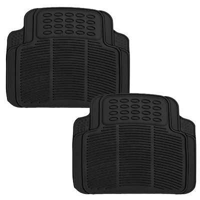 Car Accessories 2 Pc Set All Weather Heavy Duty Rubber Black Truck REAR Floor Mats