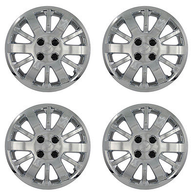 "Car Accessories 4 PC Set 09 10 CHEVY Cobalt 15"" CHROME Rim Hub Caps Car Wheel Covers Hubcaps"