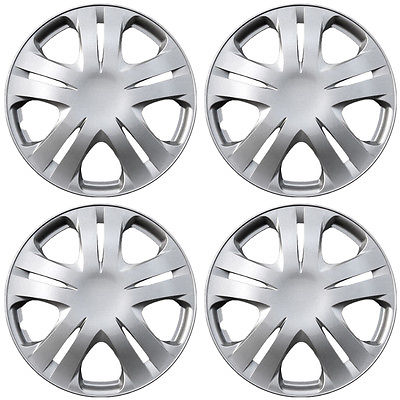 Car Accessories Hubcaps for Honda Insight 15 Inch Set of 4 Pack Steel Rim Wheel Cover ABS Silver