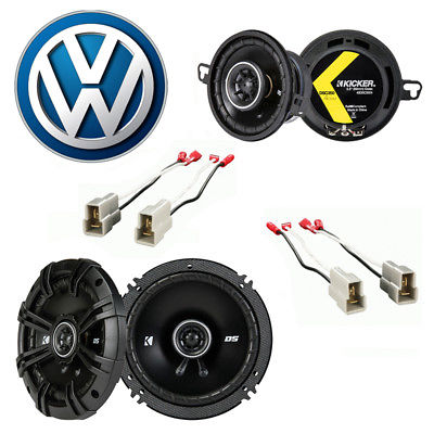For Car Fits Volkswagen GTI 1985-1985 Factory Speaker Upgrade Kicker DSC65 DSC35 Package
