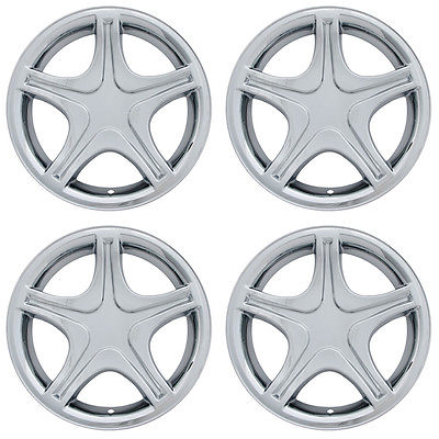 "Car Accessories 4 PC Set Ford Mustang 17"" Chrome Wheel Skins Rim Covers Hub Caps Wheels"