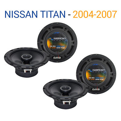 For Car Fits Nissan Titan 2004-2007 Factory Speaker Replacement Harmony (2) R65 Package