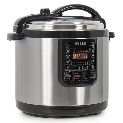 10-in-1 Programmable Pressure Instant Cooker Slow Cook Pot, 10-Quart 1400-Watt