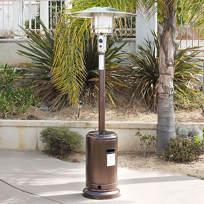 48,000 BTU Hammer Bronze Outdoor Standing Patio Heater Propane LP Gas CSA Listed