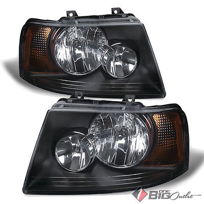 For 03-06 Expedition Black Housing Headlights Assembly Replacement LH+RH