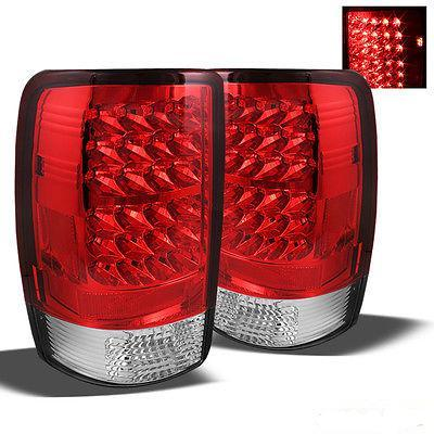 For 00-06 GMC Yukon Denali LED Tail Lights Lamps Rear Brake Pair Taillights New