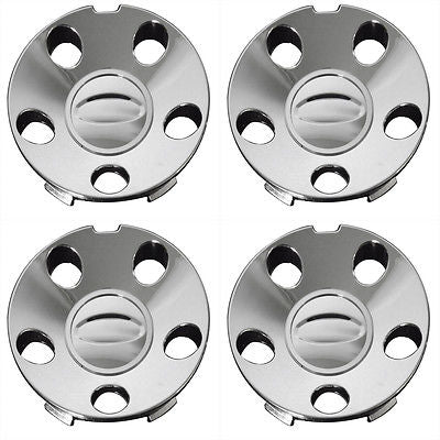 Car Accessories 4 Pc Set Ford Mustang 5 Hole Center Caps Steel Wheels Rims Pop In Hub Cover