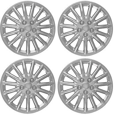"Car Accessories 4pc 17"" Inch Fit Hub Cap CHROME Lug Full Skin Rim Cover for Steel Wheel"