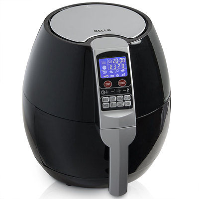 1500W Electric Air Fryer 8-Cooking Menu Setting Digital LCD Display 3.2QT -Black