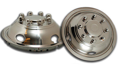 "Car Accessories 2 PC Set 03-12 Dodge RAM 3500 17"" Steel Wheel Front Simulators Dual Skin Cover"