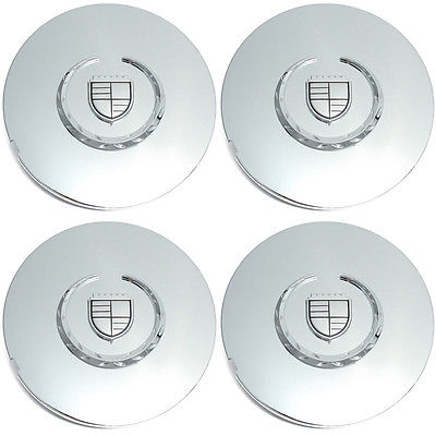 Car Accessories 4 Pc Set Deville Chrome Center Caps Steel Wheels Alloy Rims Pop In Hub Cover
