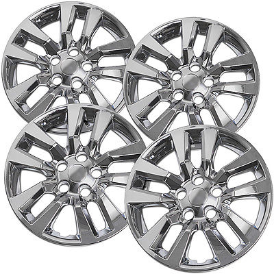 "Car Accessories 4 Pc Set New 16"" Hub Cap Chrome Wheel Cover fits Nissan Altima Quest 02-14"