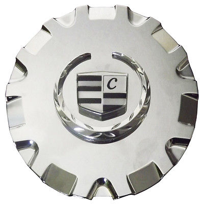 "Car Accessories 1 Piece Caddy SRX 17"" Chrome Lux Logo Center Caps Wheels Pop In Hub Cover"