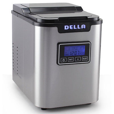 Ice Maker Machine Express 26lbs Day LCD Display, Clock, Timer -Stainless Steel