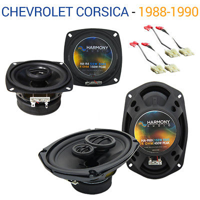 For Car Chevy Corsica 1988-1990 Factory Speaker Upgrade Harmony R4 R69 Package