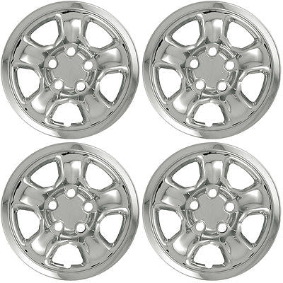 "Car Accessories 4 PC Set 02-10 Dodge Ram 17"" Chrome Wheel Skins Hubcaps Covers Hub Caps 5 Lug"