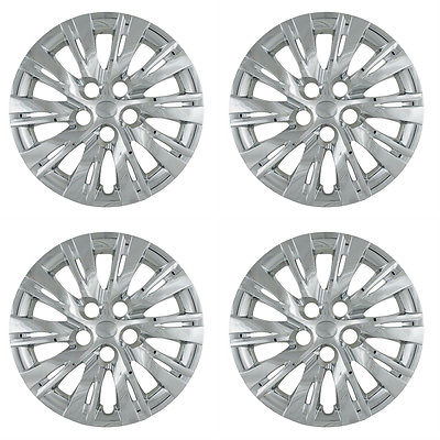 "Car Accessories 4 PC Set CAMRY 16"" Chrome Hub Caps Wheel Rim Car Skin Covers fit Steel Wheels"
